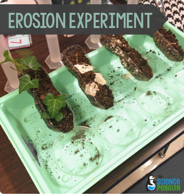 Erosion experiment for Soil and plant lab