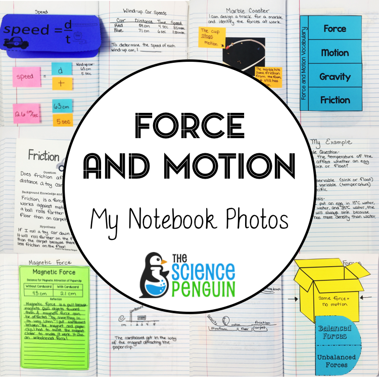 New Year New Notebook Force And Motion The Science Penguin