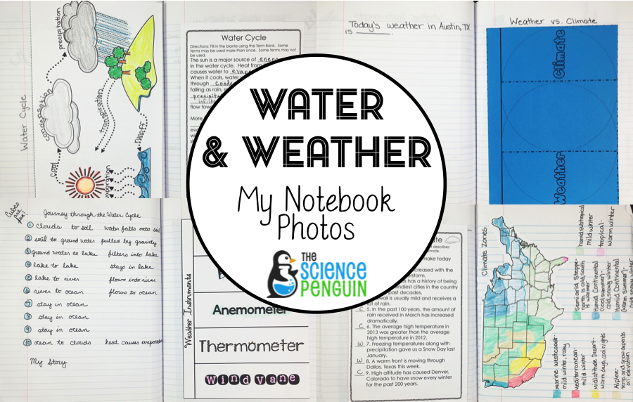 Science Notebook Photos Weather And The Water Cycle